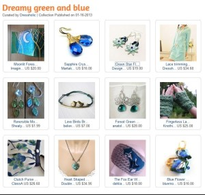 Dream Green and Blue - An Artfire Collection