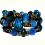Yellow Turquoise Memory Wire Bracelet1
