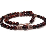 Craving Cranberry Men's Red Tiger's Eye Necklace by Designed-By-Audrey.com
